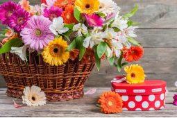 Корзины из смешанных цветов (5)