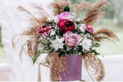 Микс цветы в шляпных коробках (5)