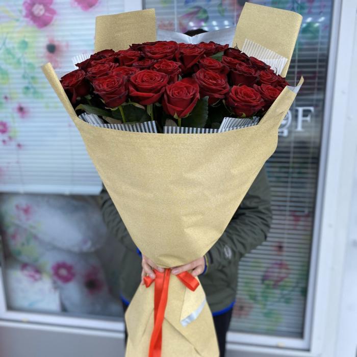 Букет из Роз Гран-При 51 шт 80 см