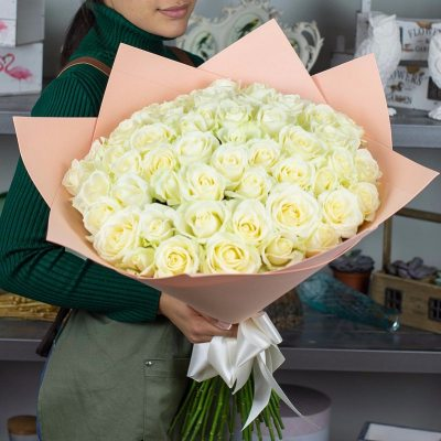 """51 Белая роза """" Для тебя"""""""