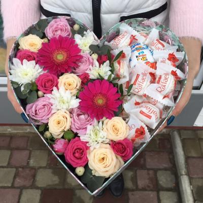 """Коробка цветов """"Сладкая встреча"""""""