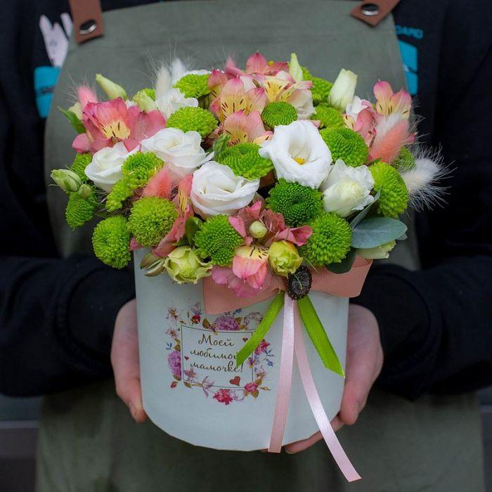 """Коробка цветов """"Моей любимой мамочке"""""""