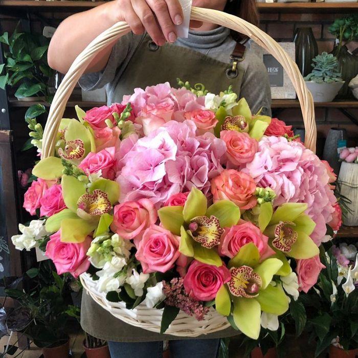 "Корзина с цветами "" Цветочная фея"""