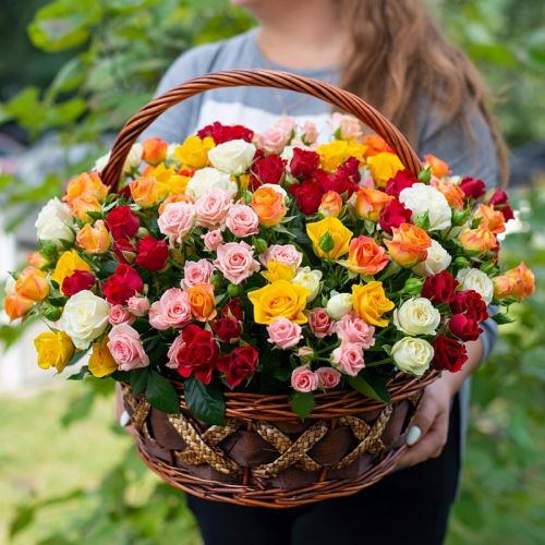 "Корзина с цветами ""Свидание"""