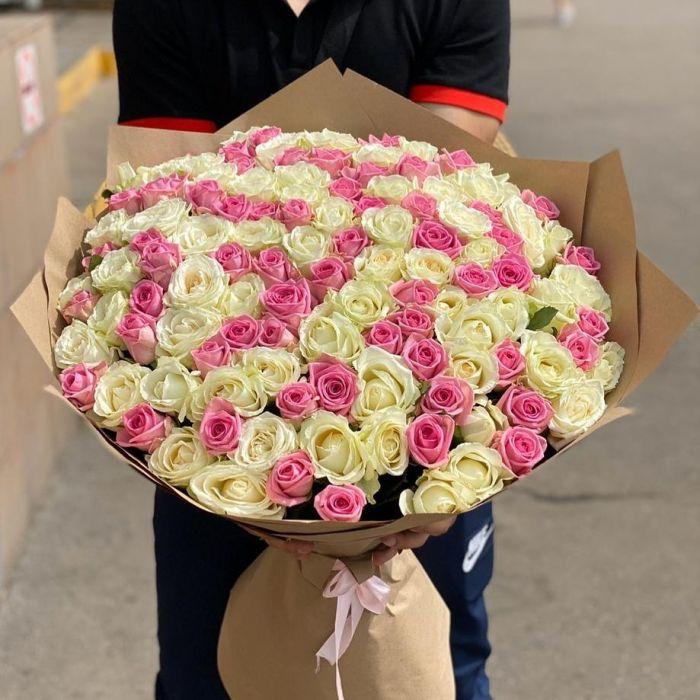 """Букет из 101 розы """" Миледи"""""""