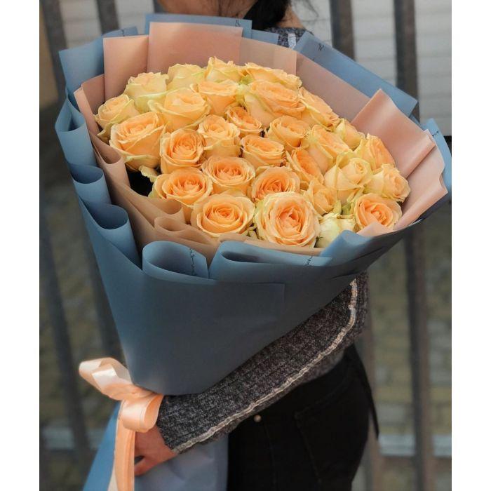 Букет из 35 роз Пич Аваланж