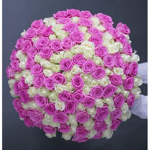 Букет из 201 розы «Непревзойденная»