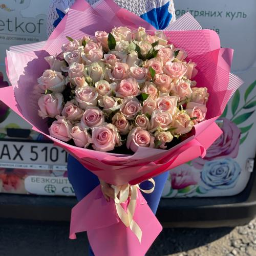 Букет из 51 розы Кимберли 80 см