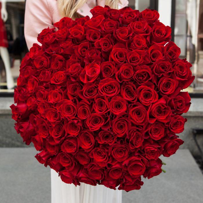 Роза Ecuador Красные 90 см
