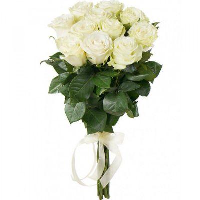 Белые розы Mondial 11 шт Ecuador