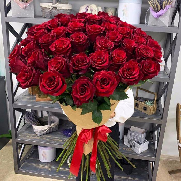 """51 красная роза """"Гран При"""""""