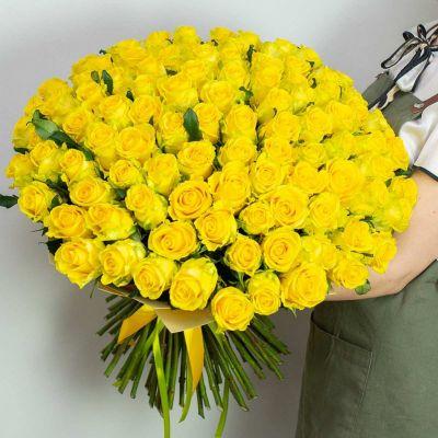 """Букет из 101 желтой розы """" Пенни"""""""