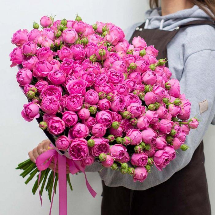 """Букет из 51 розы """"Мисти Баблз"""""""