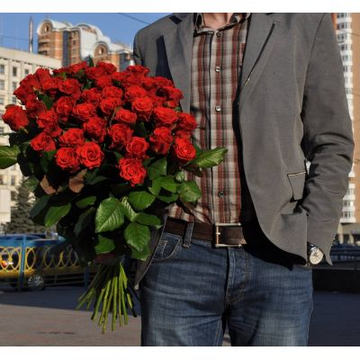 Букет из 39 роз Эль-ТОРО BOOM