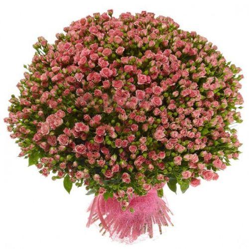 """Розовая кустовая роза """"Лавли Лидия"""" оптом 80 см."""