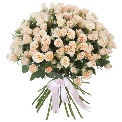 """Кремовая роза """"Крем Грация"""" оптом 80см."""