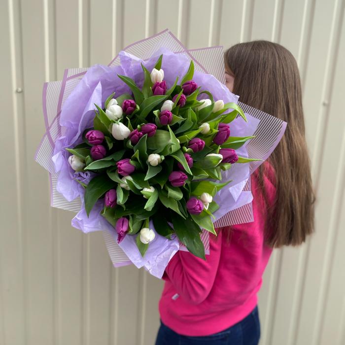 """Букет из тюльпанов """" Необычный"""""""