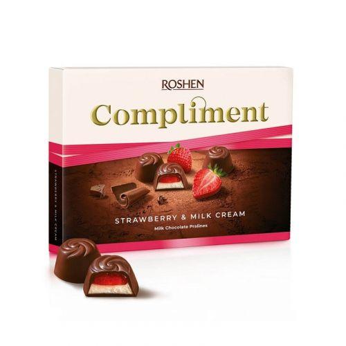 Рошен Compliment Strawberry & Milk cream