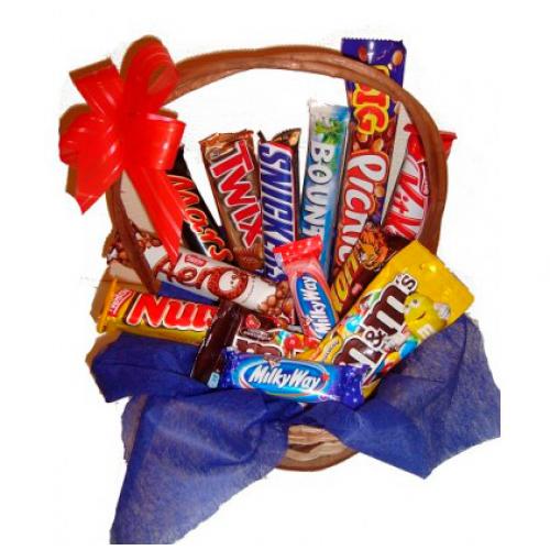 Корзина сладостей «Попробуй все!»