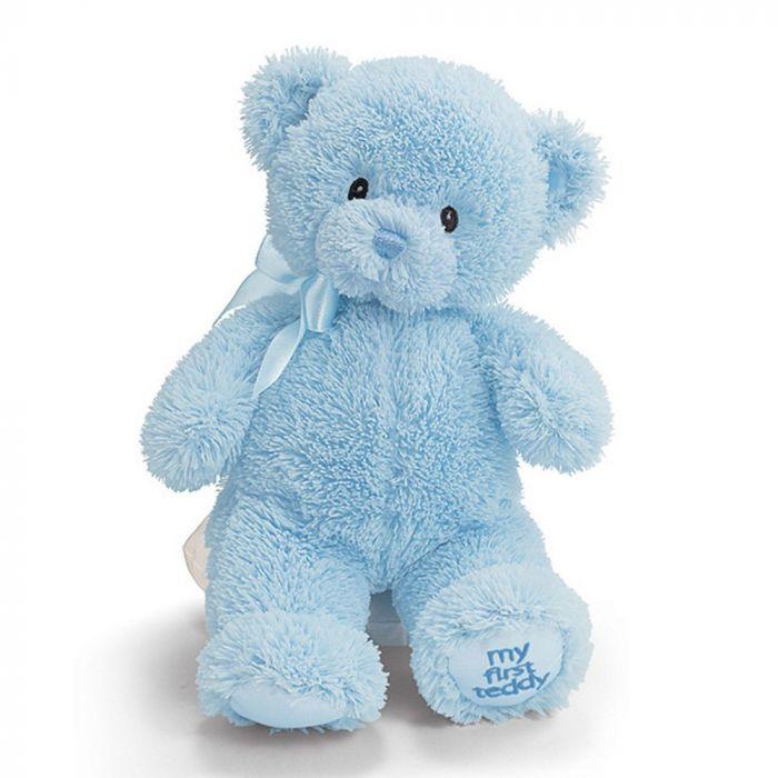 Голубой плюшевый мишка 60 см