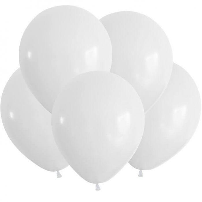 Белые гелиевые шарики