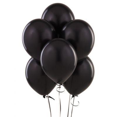 Черные гелиевые шары